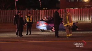 Man found with a gunshot wound after Kipling crash